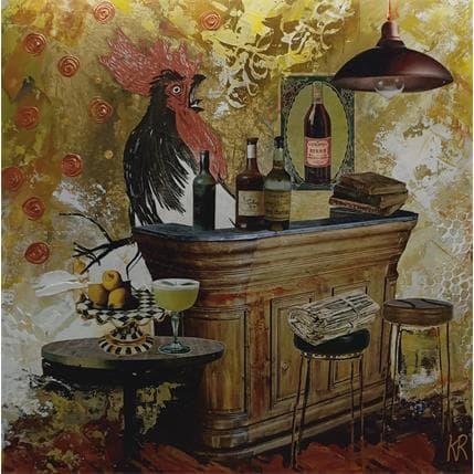 Karine Romanelli Mon coq 36 x 36 cm