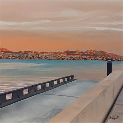 Julie Argall Marseille vue de l'Estaque 36 x 36 cm