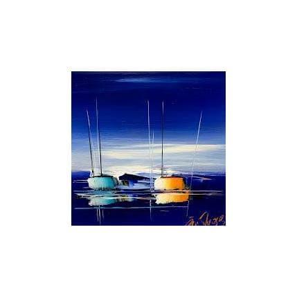 Eric Munsch En pleine mer 25 x 25 cm