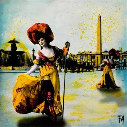 Félix Aberasturi La manif des cabarets ! 19 x 19 cm