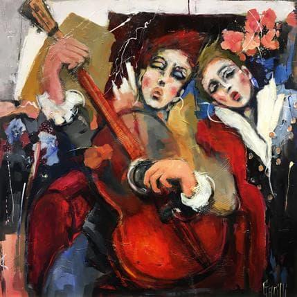 Nicole Garilli Idyle Musicale 100 x 100 cm