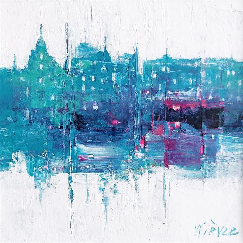 Vue en bleu sur la ville