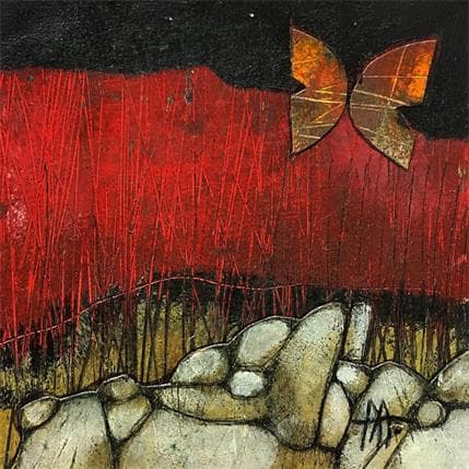 Arias Parera Rivera y mariposa 19 x 19 cm