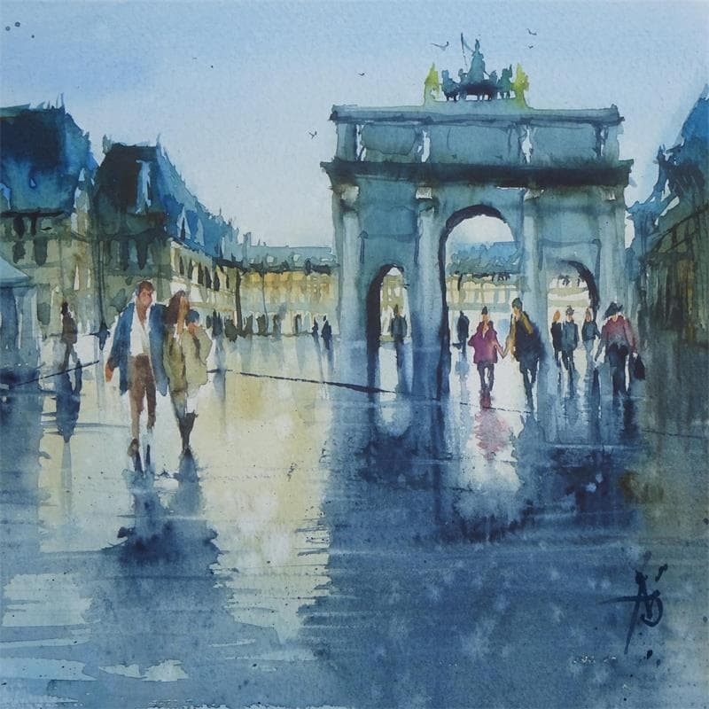 En sortant du Louvre