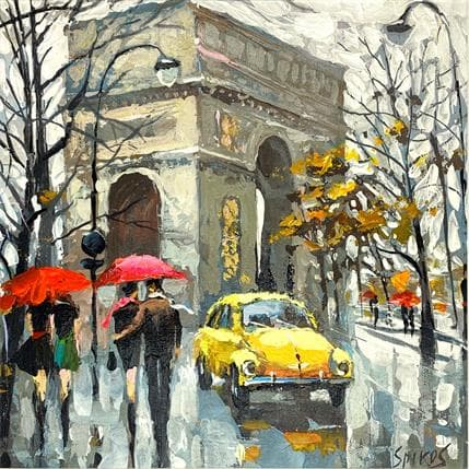 Dmitry Spiros At the Arc de Triomphe 25 x 25 cm