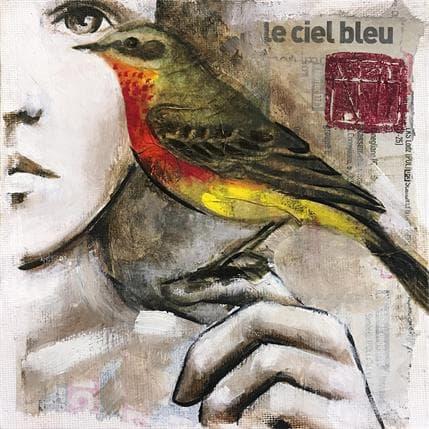 Anik Bottichio Le ciel bleu 13 x 13 cm