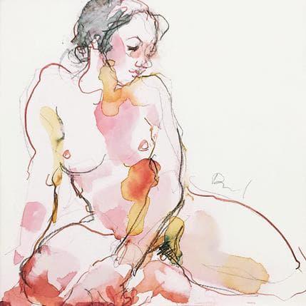 Sebastien Brunel Pauline assise 19 x 19 cm