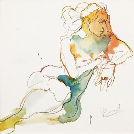 Sebastien Brunel Laure assise 19 x 19 cm