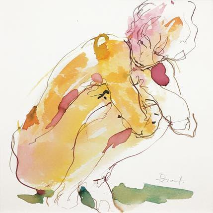 Sebastien Brunel Anaïs accroupie 25 x 25 cm