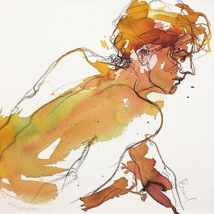 Sebastien Brunel Anaïs de profil 25 x 25 cm