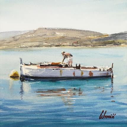 Tihomir Cirkvencic Old fisherman 25 x 25 cm