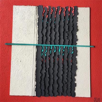 Gérard Clisson Oblique verte 36 x 36 cm