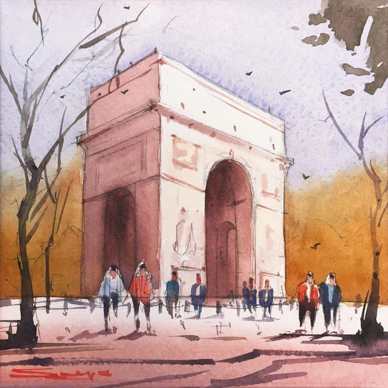 Arc de Triomphe, afternoon scene