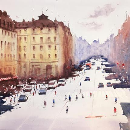 Swarup Dandapat Avenue de l'Opéra II 36 x 36 cm