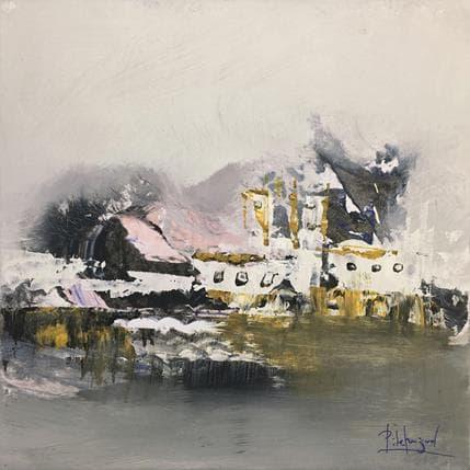 Pedro de Miguel Abstraccion en el rio 19 x 19 cm