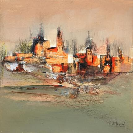 De Miguel Garcia Pedro Atardecer rojo 25 x 25 cm