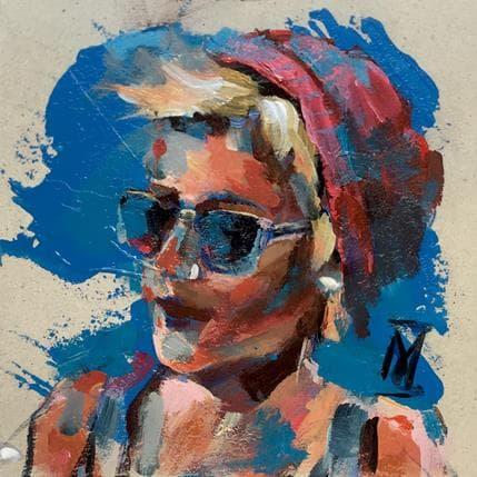 Margarita González In blue 13 x 13 cm