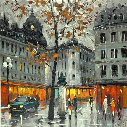Dmitry Spiros Autumn in evening 25 x 25 cm
