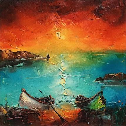 Stanislav Lazarov The sunset 25 x 25 cm