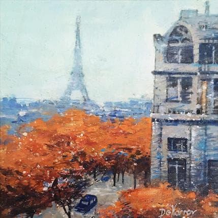 Georges-Emile De Norroy Paris brumeux 19 x 19 cm