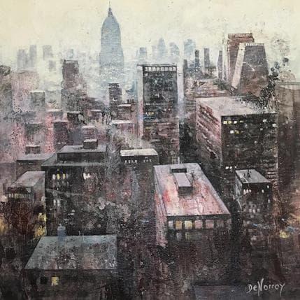 De Norroy Georges Emile Aube et lumière 36 x 36 cm
