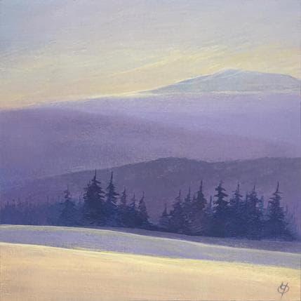 Yves Ogier Harmonie violette 19 x 19 cm