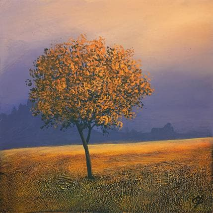 Yves Ogier Feuilles d'or 25 x 25 cm