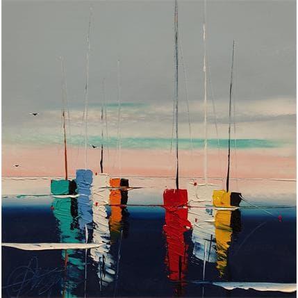 David Fonteyne VOILES AUX REPOS 36 x 36 cm