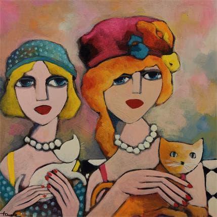Fauve Blonde et rousse 36 x 36 cm