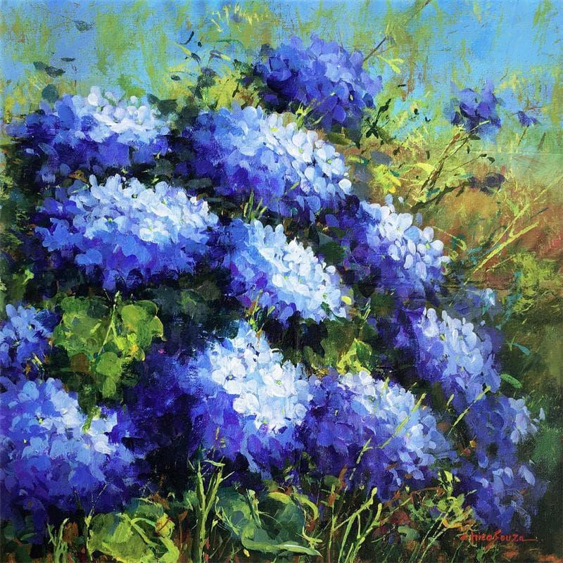 Hortências azuis
