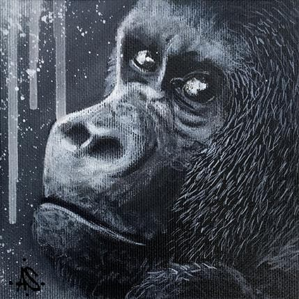 Antoine Seurot Portrait Gorille 1 13 x 13 cm
