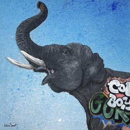 Antoine Seurot Elephant 36 x 36 cm