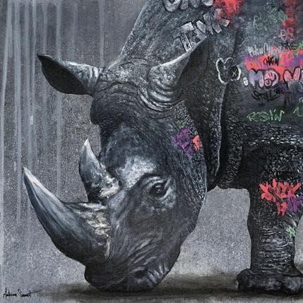 Antoine Seurot Rhino graff 36 x 36 cm