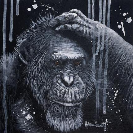 Antoine Seurot Singe penseur 25 x 25 cm