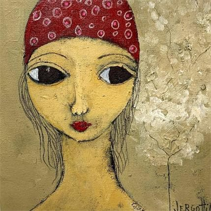 Paola Vergottini Mujer con arbol 19 x 19 cm