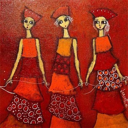 Paola Vergottini Tres y lazo 19 x 19 cm