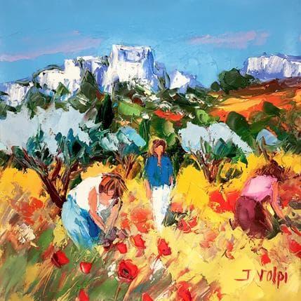 Jacques Volpi Cueillette au Baux-de-Provence 36 x 36 cm