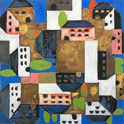 Huub Ragas 676 Houses in order 19 x 19 cm
