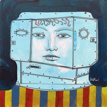 Pawel Krol Tin head 5 19 x 19 cm