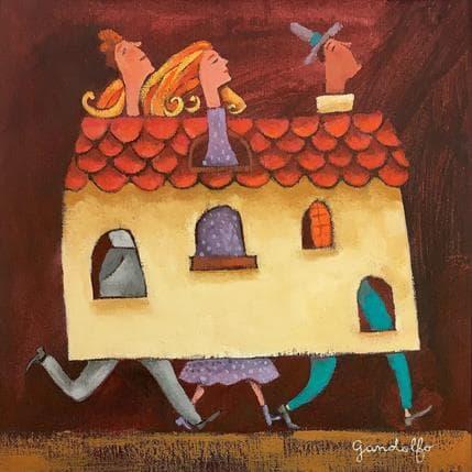 Cecilia Gandolfo Casa para tres 25 x 25 cm