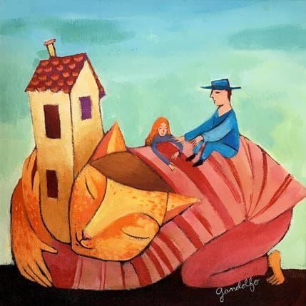 Cecilia Gandolfo El gato de la casa 25 x 25 cm