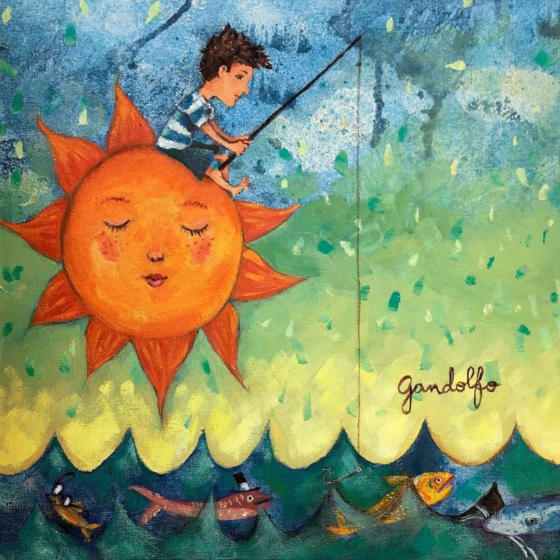 Pescando al sol