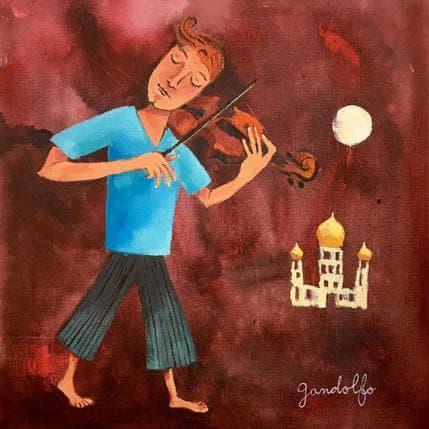 Cecilia Gandolfo Violinista 25 x 25 cm