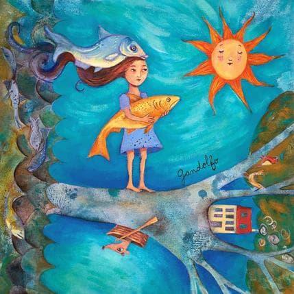 Cecilia Gandolfo Pescadora 36 x 36 cm