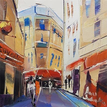 Salenko Anna Au loin de la rue 13 x 13 cm