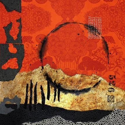 Catherine Simoneau Pestel Seule à l'aube 36 x 36 cm