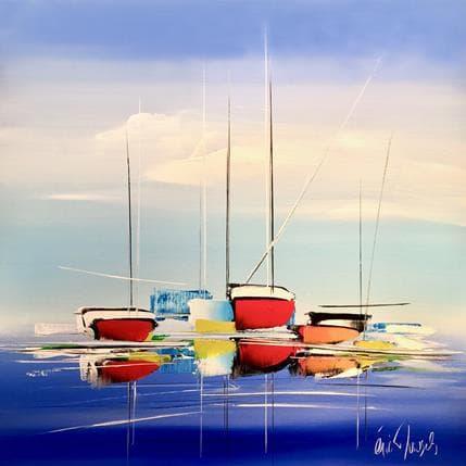 Eric Munsch Un voyage bleu 80 x 80 cm