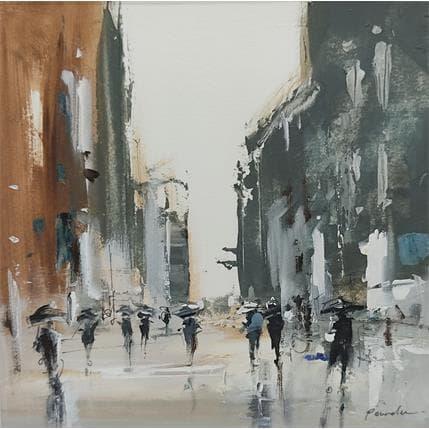 Richard Poumelin Un jour de pluie 19 x 19 cm