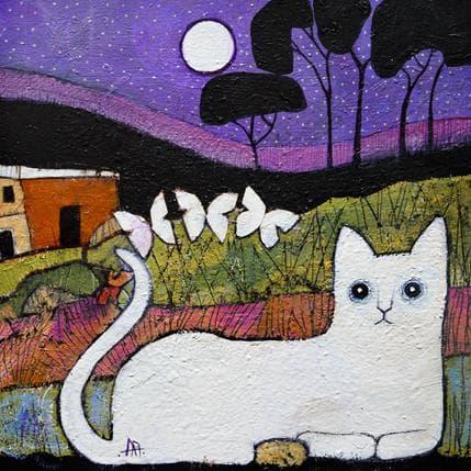 Arias Parera Gato nocturno 36 x 36 cm