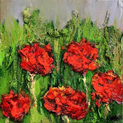 Shahine Champ tulipes rouges 13 x 13 cm